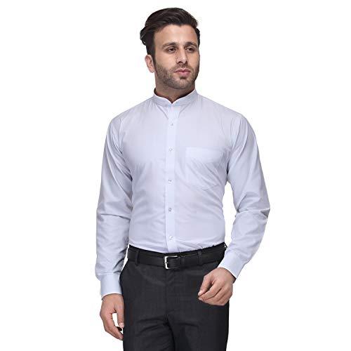 Hancock White Solid Slim Fit Cotton Rich Formal Shirt 3301white