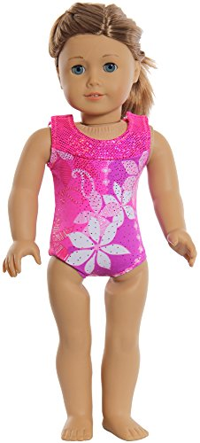 Snowflake Designs Plumeria Doll or Bear Leotard (Leotard Only) - Foil Gymnastic Leotard