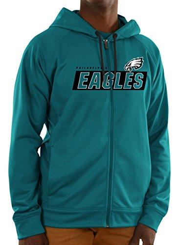 Philadelphia Eagles Long Sleeve Game (Philadelphia Eagles Majestic Mens Game Elite Fullzip Hoody (Large))