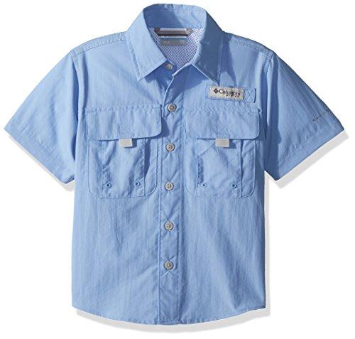 Columbia Boys Bahama Short Sleeve Shirt, White Cap, Small