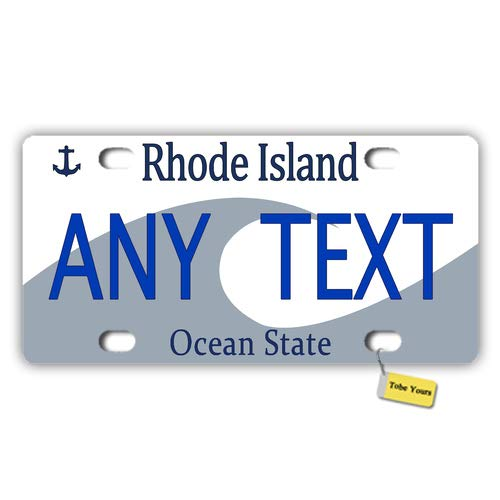State Island Rhode Plate License (Tobe Yours US 50 States Personalized Custom Any Text/Name/Photo/Image - Rhode Island 1997 Ocean State Printed Customized Auto Car Tag Metal License Plate Cover Frame Car)