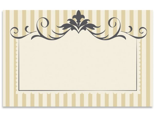 Pack Of 50, Flourish Stripe Enclosure Card 3-1/2'' x 2-1/4'' Made In USA by Generic