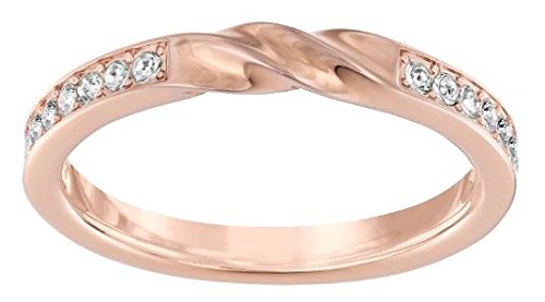 5140101 Swarovski Curly Ring  Rose Gold Plated