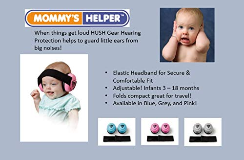 Pink Adjustable Elastic Headband for Secure Comfortable Fit Hush Gear Baby Noise Cancelling Headphones for Babies Infant Ear Protection 28.6db Sound Reduction Baby Ear Protection Ear Muffs