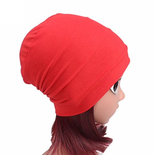 FEITONG Children Baby Girls Cotton Hat Beanie Scarf Turban Head Wrap Cap 3-8 years (Red) by FEITONG (Image #3)