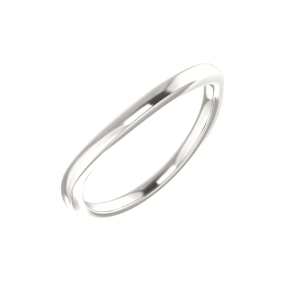 Bonyak Jewelry Continuum Sterling Silver Band for 14 mm Cushion Ring Size 7