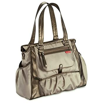 30ff920a6a50 Amazon.com : Skip Hop Studio Diaper Tote Bag - Champagne (Discontinued by  Manufacturer) : Beige Skip Hop Diaper Bag : Baby