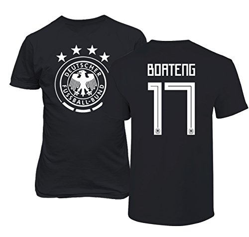 Tcamp Germany 2018 National Soccer #17 Jerome BOATENG World Championship Men's T-Shirt (Black, Adult XXX-Large) (Boateng Deutschland)