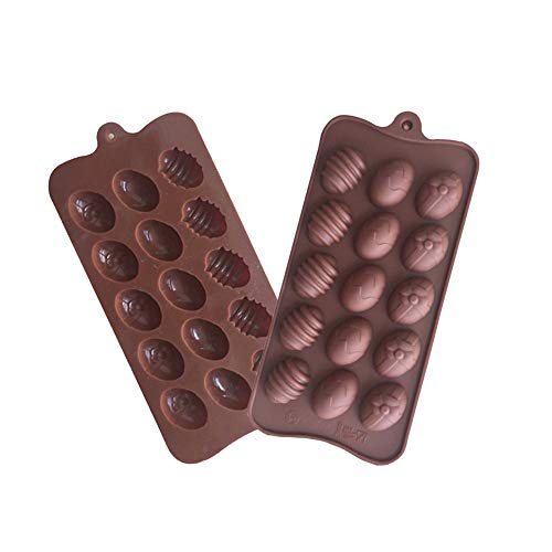 Konxxtt Easter Bunny Silicone Eggs Chocolate Cake Soap Mold Baking Ice Tray Mould Accessory(1Pc,22.5 x 10.2 x 1.5cm) -