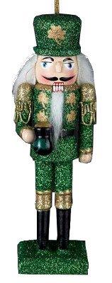 Kurt Adler Ornaments C9668 Wooden Irish Nutcracker Ornament ()