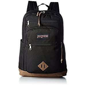 "JanSport Classic Specialty Wanderer Backpack - Black / 17.5""H X 12.6""W X 5.7""D"
