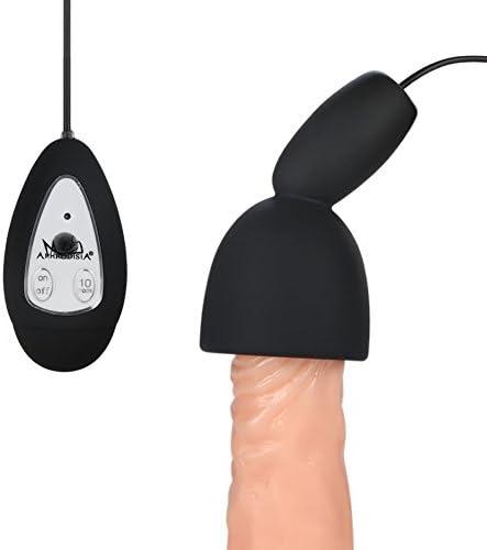 SXOVO Penis Ausdauer Trainer, 10 Geschwindigkeit Vibrierende Männliche Masturbator Sex Toys für Männer, kann auch als Ei Vibrator für Frauen