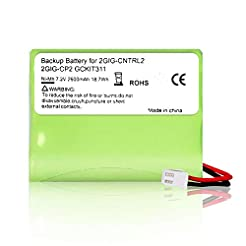 Rfeng Backup Battery for 2gig BATT1X BAT...