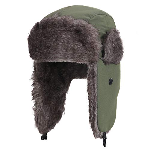 Yesurprise Trapper Warm Russian Trooper Fur Earflap Winter Skiing Hat Cap Women Men -