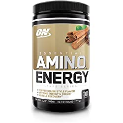 Optimum Nutrition Amino Energy with Green Tea and Green Coffee Extract, Flavor: Iced Chai Tea Latte, 30 Servings