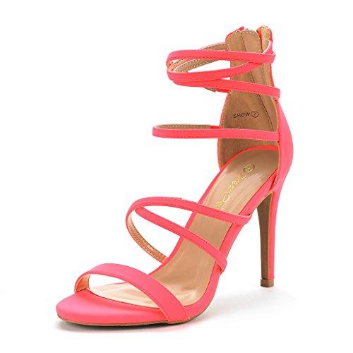 DREAM PAIRS Women's Show Coral Nubuck High Heel Dress Pump Sandals - 9.5 M US
