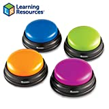 Learning Resources Answer Buzzers, Set of 4 Assorted Colored Buzzers, Ages 3+: more info