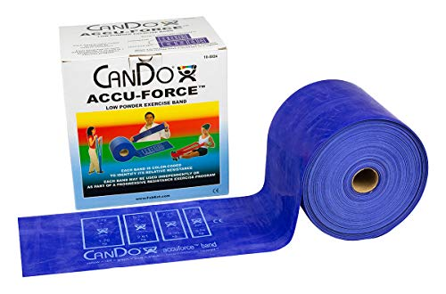 FEI 10-5924 Can-Do AccuForce Exercise Band Roll with Dispenser Box, Heavy, 50 yd. Length, Blue