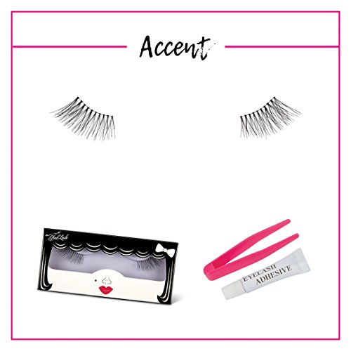 GladGirl | 'Accent' Strip Lash Kit | 100% Sterilized Human Hair Lashes On Invisible Band | Handmade Delicate-Style