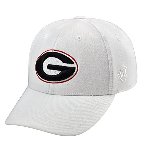 Top of the World Georgia Bulldogs Official NCAA One Fit Large One Fit Wool Hat Cap by (Bulldogs One Fit Cap)