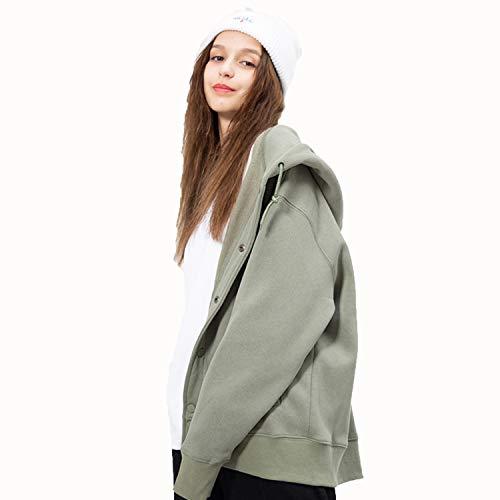 Con Sport Autunno Elegante Donna Casual Cappotto Outwear Per Verde Donna Semplice Felpa Manica Cardigan In Lunga Cappuccio Da Esecuzione vtnqHvwZR