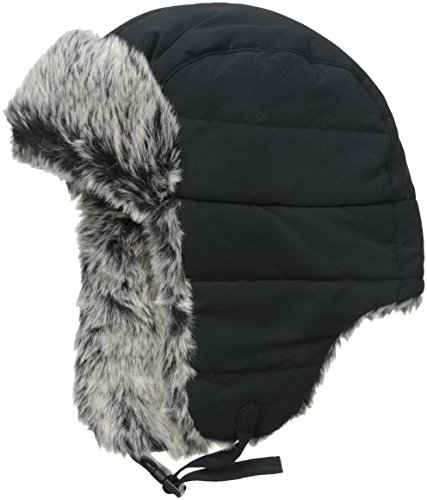 Fur Trapper (Dockers Men's Nylon Trapper Hat, Black, Large/X-Large)