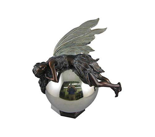 Planter 12 Globe Bronze - Nаpcо Outdoor Garden Backyard Décor 12-Inch Tall Bronze Fairy on Gazing Ball