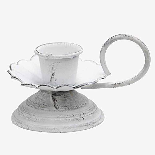 blanca con asa fina en hierro blanca  de hierro Better /& Best 3081212 Palmatoria con base color
