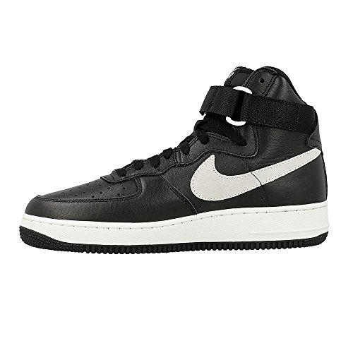 Nike Air Force 1 HI Retro QS, Zapatillas de Balonmano para Hombre Negro / Blanco  (Black/Summit White)