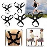 Men Women Adjustable Back Support Belt Posture Correction Correct Brace Shoulder Corrector (Size L) by Lovestore2555