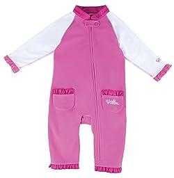 UV SKINZ UPF50+ Baby Girl Sun & Swim Suit-Bubblegum Pink/White-6/12m