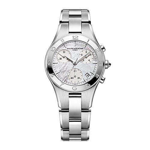 Baume & Mercier Women's Linea Chronograph White MOP Dial Stainless Steel