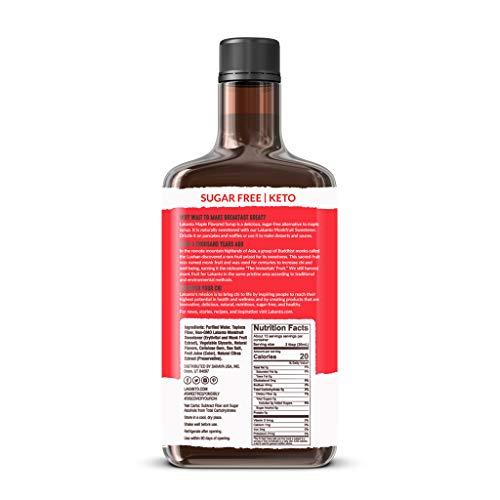 Lakanto, Monkfruit Sweetened Maple Flavored Syrup, 13 fl oz (384 ml)