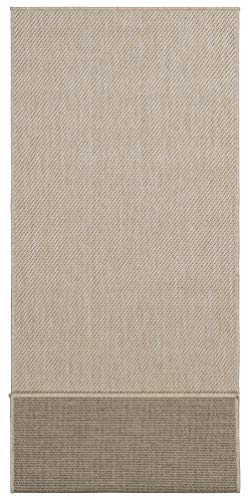 Ottomanson Jardin Collection Solid Design Runner Rug, 2' x 5', Cream - VERSATILE: Robust construction makes it ideal for high-traffic areas indoor or outdoor. DURABLE and LONG LASTING: Power-loomed in Turkey with %100 polypropylene. LOW-PILE HEIGHT is non-shedding and ideal for homes with pets and high-traffic. - runner-rugs, entryway-furniture-decor, entryway-laundry-room - 41dUczB0QSL -
