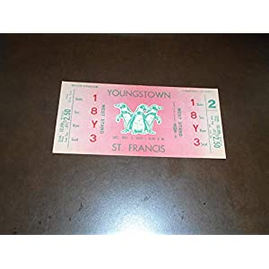 1953 ST. FRANCIS AT YOUNGSTOWN COLLEGE FOOTBALL UNUSED FULL TICKET NEAR MINT