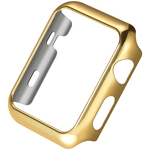 Apple Watch Series 3 Case,Mangix Super Thin PC Plated Plating Protective Bumper Case for for for Apple Watch Series 3/Edition/Nike+ (42mm Gold)
