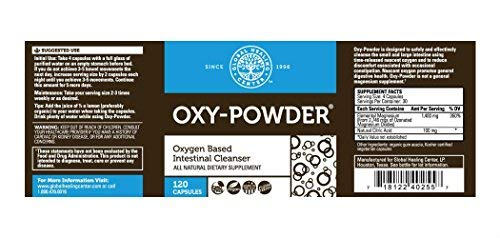 Global Healing Center Oxy-Powder Colon Cleanse Detox - Oxygen Based Safe & Natural Intestinal Cleanser - Relief from Occasional Constipation (120 Capsules) 2 Pack by Global Healing Center (Image #1)