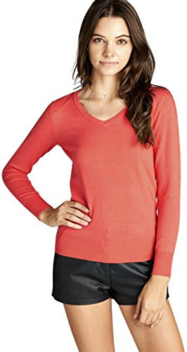 ToBeInStyle Women's Classic Long Sleeve V-Neck Pullover Sweater