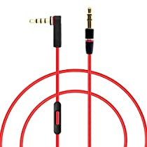 MOYAKA Replacement Control Talk Cable For Beats by Dre Headphones Solo, Studio, Mixr, Wireless (Discontinued by Manufacturer)