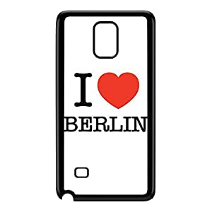 I Love Berlin Black Hard Plastic Case for Galaxy Note 4 by textGuy + FREE Crystal Clear Screen Protector