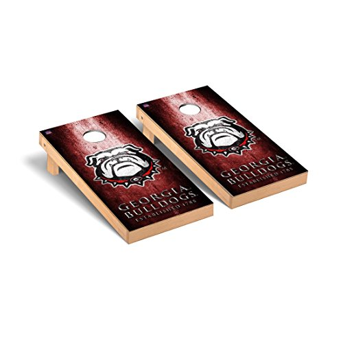 Victory Tailgate Georgia Bulldogs Regulation Cornhole Game Set Metal ()