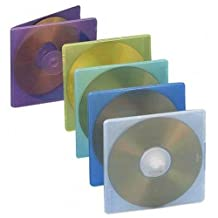 Compucessory Extra Thin CD/DVD Jewel Case -Jewel Case -Slide Insert -Plastic -Assorted     50/pack