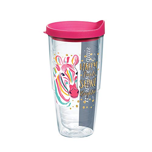 Tervis 1225547 Simply Southern Purple Zebra 24 oz Water Bottle with lid 24oz Clear