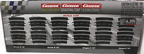 Carrera 20578 Curve 4/15, 12 Pieces - Digital 124/132 and Analog from Carrera