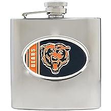 NFL Stainless Steel Flask Metal Logo