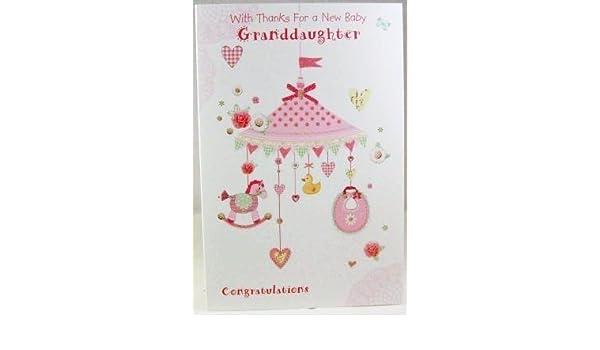 Gracias y libros para recién nacido nieta, tarjeta de felicitación ...