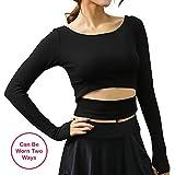 Women's Basic Scoop Neck Workout Crop Top T Shirt Lightweight Short Cami Crop Tight Fit Tee
