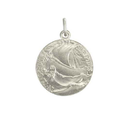 Sayers London Sterling Silver Large Round St George Medal ox4CcDX