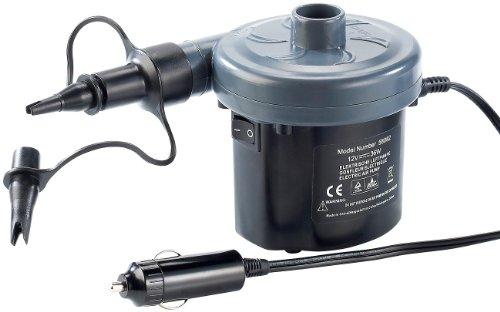 infactory Elektrische Luftpumpe mit variabler Stromversorgung, 12/230V