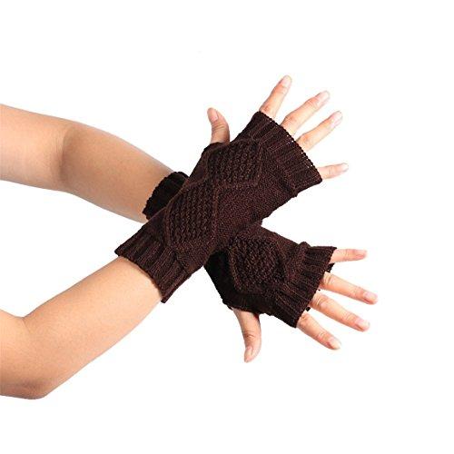 HNファッションニットアーム指なし冬手袋ソフト暖かいミトン